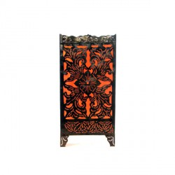 Lampe rectangulaire arabesque Orange